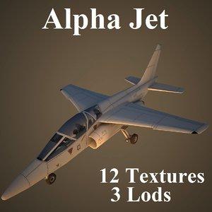 3d model of alpha jet