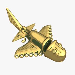 3ds max golden aircrafts