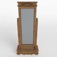 3d model floor mirror