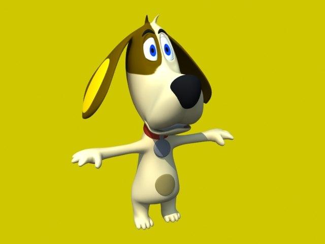 3ds max dog cartoon