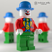 lego clown figure c4d