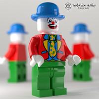lego clown figure c4d