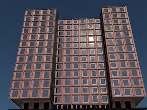 office apartment building 3d model