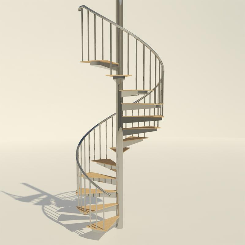 Maya spiral staircase for Scala a chiocciola 3d