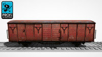 3d freight wagon ws 03
