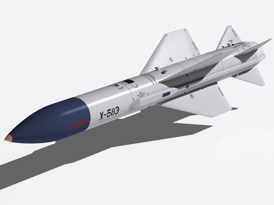 kh-58e missile 3d max