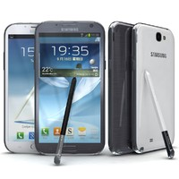 Samsung Galaxy Note II Gray and White