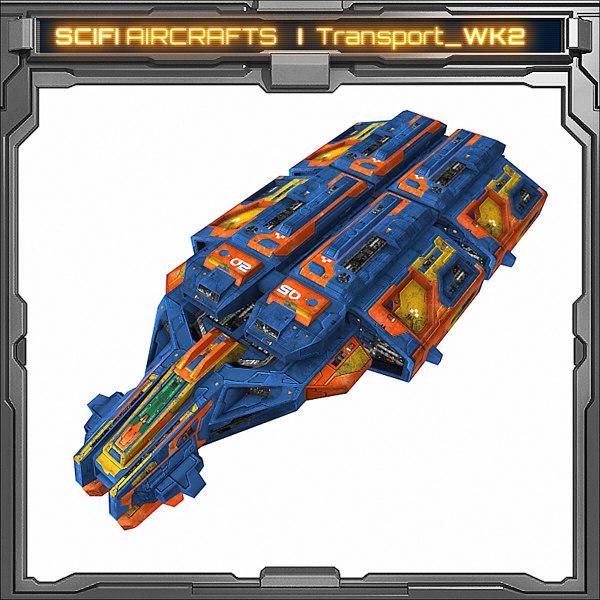 3d scifi spaceship model