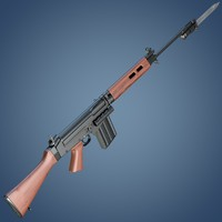 3dsmax fn fal rifle