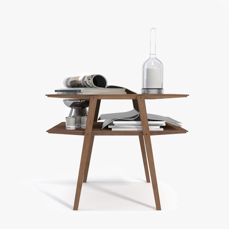 realistic bedside table 3d model