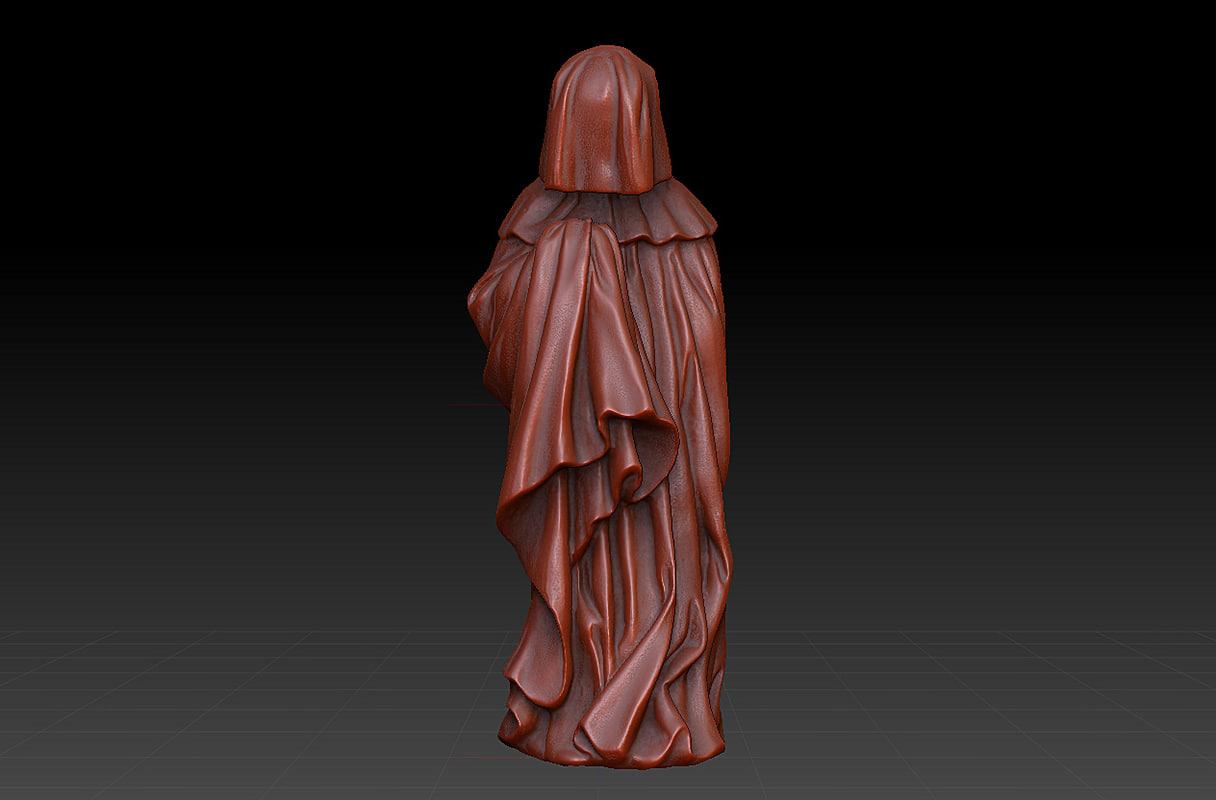 3d weeper garden statue