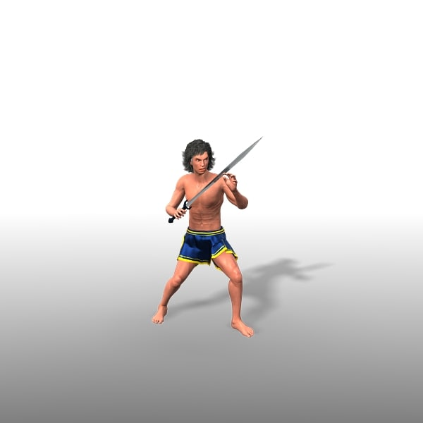 3d model theseus animate