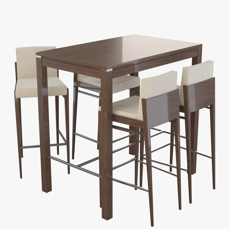 3d alvito table chairs bar restaurant