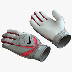 3d model batting gloves