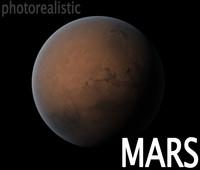 terrestrial mars planet 3d max