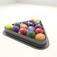free max model billiard balls