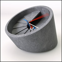 concrete clock obj