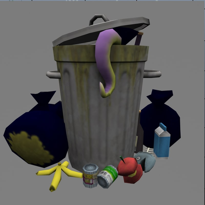 trash garbage games 3d obj