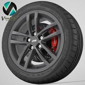 wheel ats radial 3d model