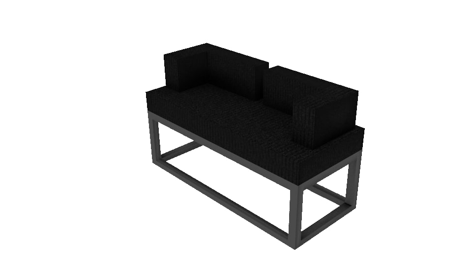 3d model chair bench