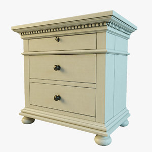 st james closed nightstand 3d max