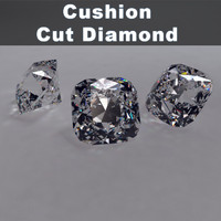 cushion cut diamond 3ds
