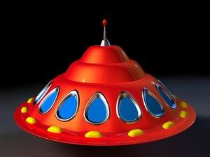 3d flying saucer alien model