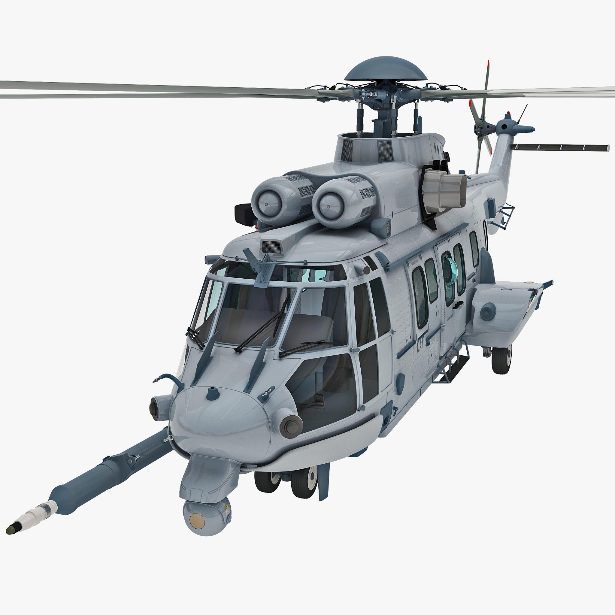 3d model eurocopter ec725 caracal tactical