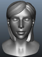 female head 3d ma