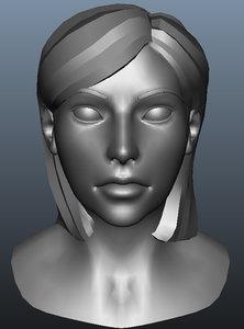 female head 3d ma