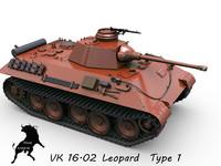 3d model tank vk leopard