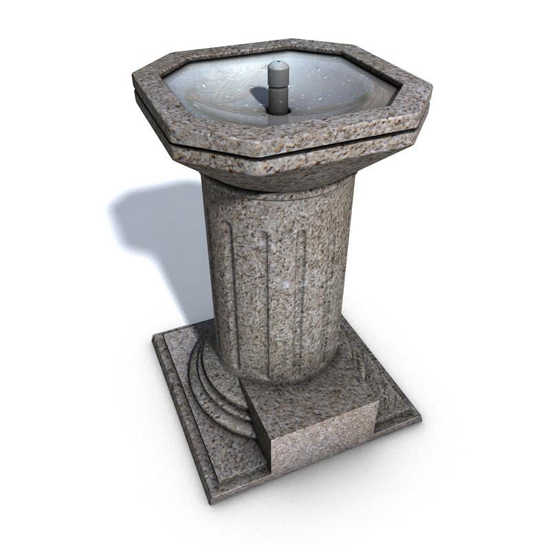 park drinking fountain 3d ma