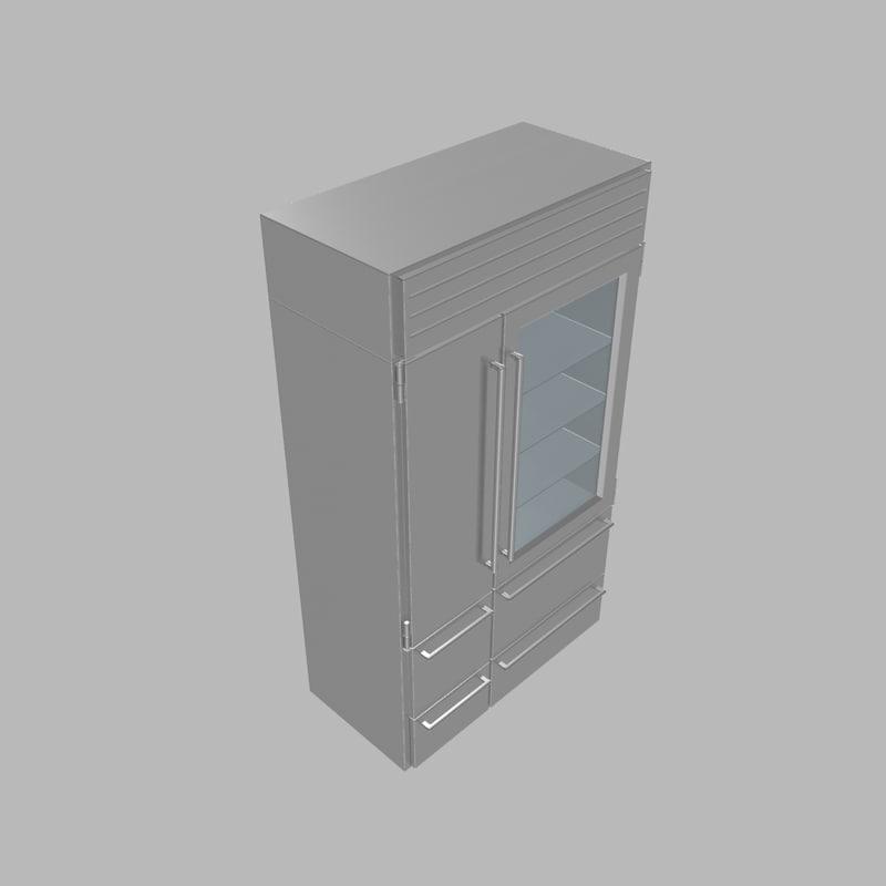 3ds max fridge sub-zero