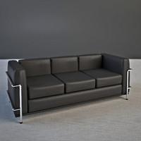 le corbusier sofa lc2 3d model