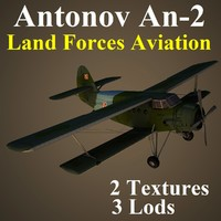 antonov 2 lfa aircraft 3d model