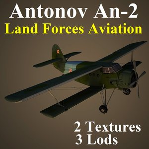 antonov 2 lfa aircraft 3d model