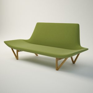 ejnar larsen sofa 3d model