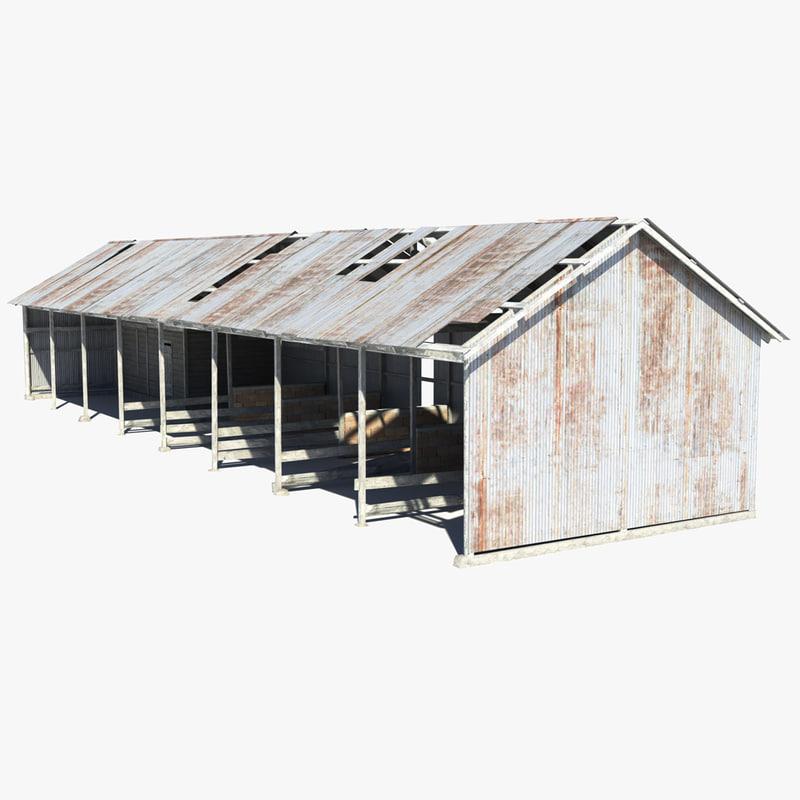 livestock shed obj