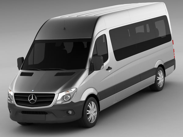 3d mercedes sprinter bus