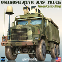 oshkosh mk23 mtvr armor 3d fbx