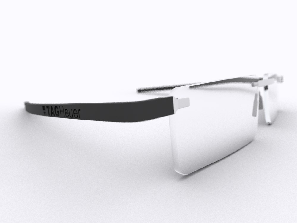 3d model of tag heuer reflex eye glasses