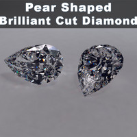 3d model pear shaped brilliant cut
