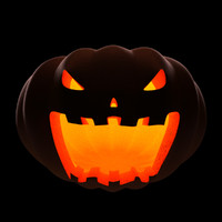 posing halloween pumpkin 3d model