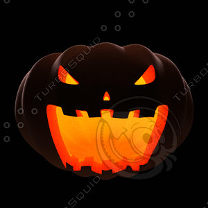 posing halloween pumpkin 3d model