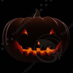 posing halloween pumpkin 3d 3ds