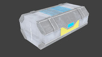 x low-poly sci-fi container