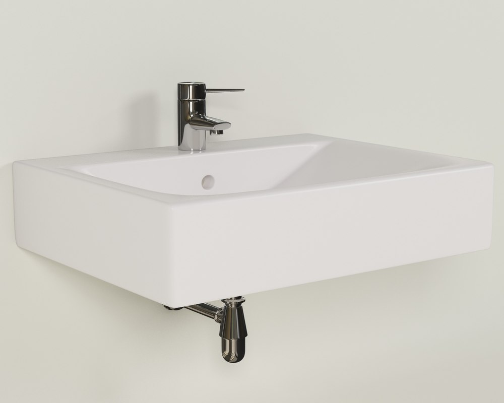 3d model ceramic bathroom sink
