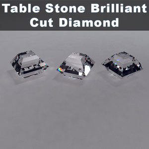 table stone brilliant cut 3d obj