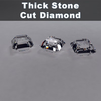 Thick Stone Cut Diamond
