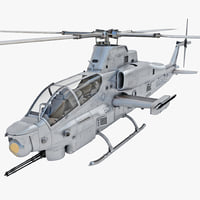 3d model bell ah-1z viper 4